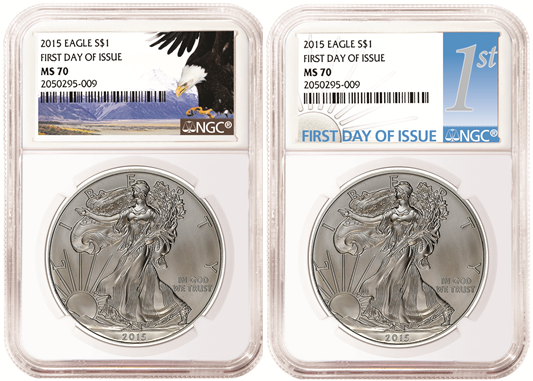 NGC MS70 Silver Eagles First Day